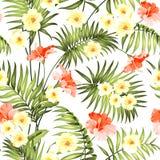 Naadloze tropische bloem vector illustratie