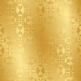 Naadloze uitstekende achtergrond in goud Royalty-vrije Stock Afbeeldingen