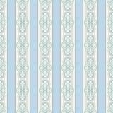 Naadloze uitstekende blauwe patroonachtergrond Royalty-vrije Stock Foto