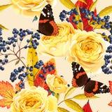 Naadloze uitstekende bloemen Stock Afbeelding