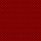 Naadloze uitstekende Chinese van de de lijndiamant van venstertracery dwars het patroonachtergrond vector illustratie