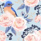 Naadloze uitstekende rozen Stock Afbeeldingen