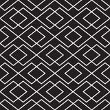 Naadloze uitstekende van het de controleweefsel van Art Deco met elkaar verbindende het patroonachtergrond stock illustratie