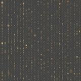 Naadloze unieke gouden regen bokeh Fonkelende lijnen van het flikkeren lichten Schitter draden De lichten van de vakantieslinger  vector illustratie