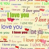 Naadloze valentijnskaart Stock Foto