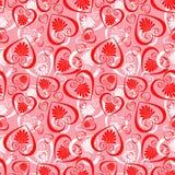 Naadloze valentijnskaart Royalty-vrije Stock Afbeelding