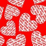 Naadloze valentijnskaartachtergrond. Royalty-vrije Stock Foto