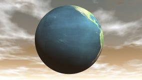 Naadloze van een lus voorziende 3D aarde - geef terug royalty-vrije illustratie
