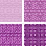 Naadloze Vastgestelde Purple van het Patroon van de Krabbel Royalty-vrije Stock Afbeelding