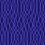 Naadloze vector gebreide stoffentextuur met blauwe lijnen stock illustratie