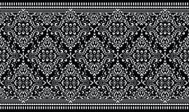 Naadloze vector uitstekende grens royalty-vrije illustratie