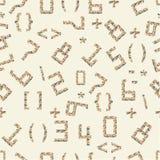 Naadloze vector van aantallen en geometrische vormen Royalty-vrije Stock Foto's