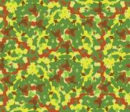 Naadloze vector vierkante camouflagereeks in de groene regeling Royalty-vrije Stock Foto's