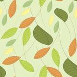 Naadloze vectorachtergrond met bladeren Royalty-vrije Stock Fotografie
