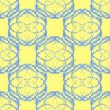 Naadloze Vectorachtergrond met Blauwe Ijskegel zoals Patroon Stock Fotografie