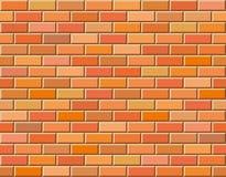 Naadloze vectorbakstenen muur - achtergrondpatroon Royalty-vrije Stock Afbeelding
