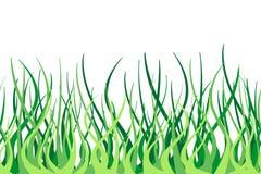 Naadloze vectorgrens van groen gras Stock Fotografie