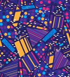 Naadloze vectorpatroon kleurrijke meetkunde royalty-vrije stock foto