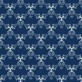 Naadloze Vectorpatroon van indigo het Blauwe Sashiko Hand Getrokken Japanse Stijl vector illustratie