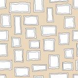 Naadloze vectorpatroonachtergrond Royalty-vrije Stock Foto