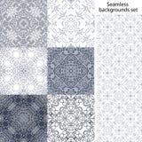 Naadloze vectorreeks als achtergrond Uitstekende geometrische texturen Gekleurd netto patroon Decoratieve achtergrond voor kaart, Royalty-vrije Stock Afbeelding