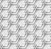 Naadloze vectortextuur - grijze zeshoeken Stock Fotografie