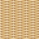 Naadloze vectortextuur van het weven van lichte identieke wilgenstaven vector illustratie
