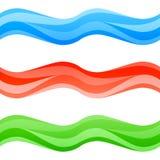 Naadloze veelkleurige geplaatste golven Royalty-vrije Illustratie