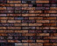 Naadloze versleten grunge bruine van het bakstenen muurpatroon textuur als achtergrond Naadloze bakstenen muurachtergrond Archite Royalty-vrije Stock Fotografie