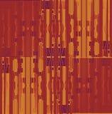 Naadloze vierkanten en strepen bruine verplaatst purple van de patroonoker Royalty-vrije Stock Afbeeldingen