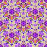 Naadloze Violet Floral Mandala Pattern Royalty-vrije Stock Afbeeldingen