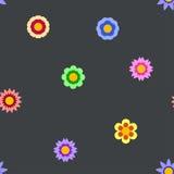 Naadloze vlakke bloem die patroon herhalen vector illustratie