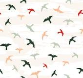 Naadloze vliegende vogels Vector naadloos patroon stock illustratie