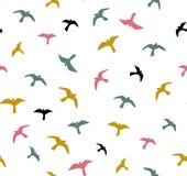 Naadloze vliegende vogels Vector naadloos patroon Achtergrond met zeemeeuwen royalty-vrije illustratie