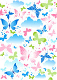 Naadloze vlinder Royalty-vrije Stock Afbeelding