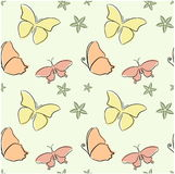 Naadloze vlinders Royalty-vrije Stock Fotografie