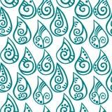 Naadloze waterdalingen gevormde regen royalty-vrije illustratie