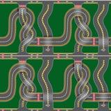 Naadloze wegenkaart vector illustratie