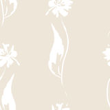Naadloze witte bloem Stock Foto