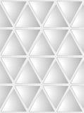 Naadloze witte geometrische achtergrond Stock Afbeelding
