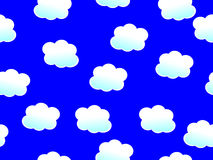Naadloze Wolken Royalty-vrije Stock Foto's