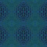 Naadloze zeshoek en donkerblauwe grijze groen van het diamantpatroon Royalty-vrije Stock Afbeelding