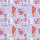 Naadloze zwangere patternn Stock Afbeelding