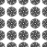Naadloze zwart-wit Royalty-vrije Stock Afbeelding