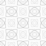 Naadloze zwart-wit abstracte patronen Stock Afbeelding