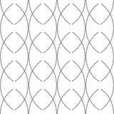 Naadloze zwart-wit abstracte patronen Stock Afbeeldingen