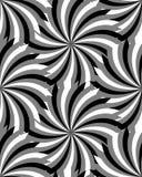 Naadloze Zwart-wit Cirkels, Geometrisch patroon Geschikt voor textiel, stof en verpakking Stock Afbeeldingen
