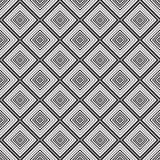 Naadloze zwart-wit ornamentvierkanten Royalty-vrije Stock Fotografie