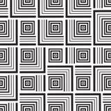 Naadloze zwart-wit ornamentvierkanten Stock Foto