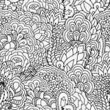 Naadloze zwart-witte achtergrond Stock Afbeeldingen